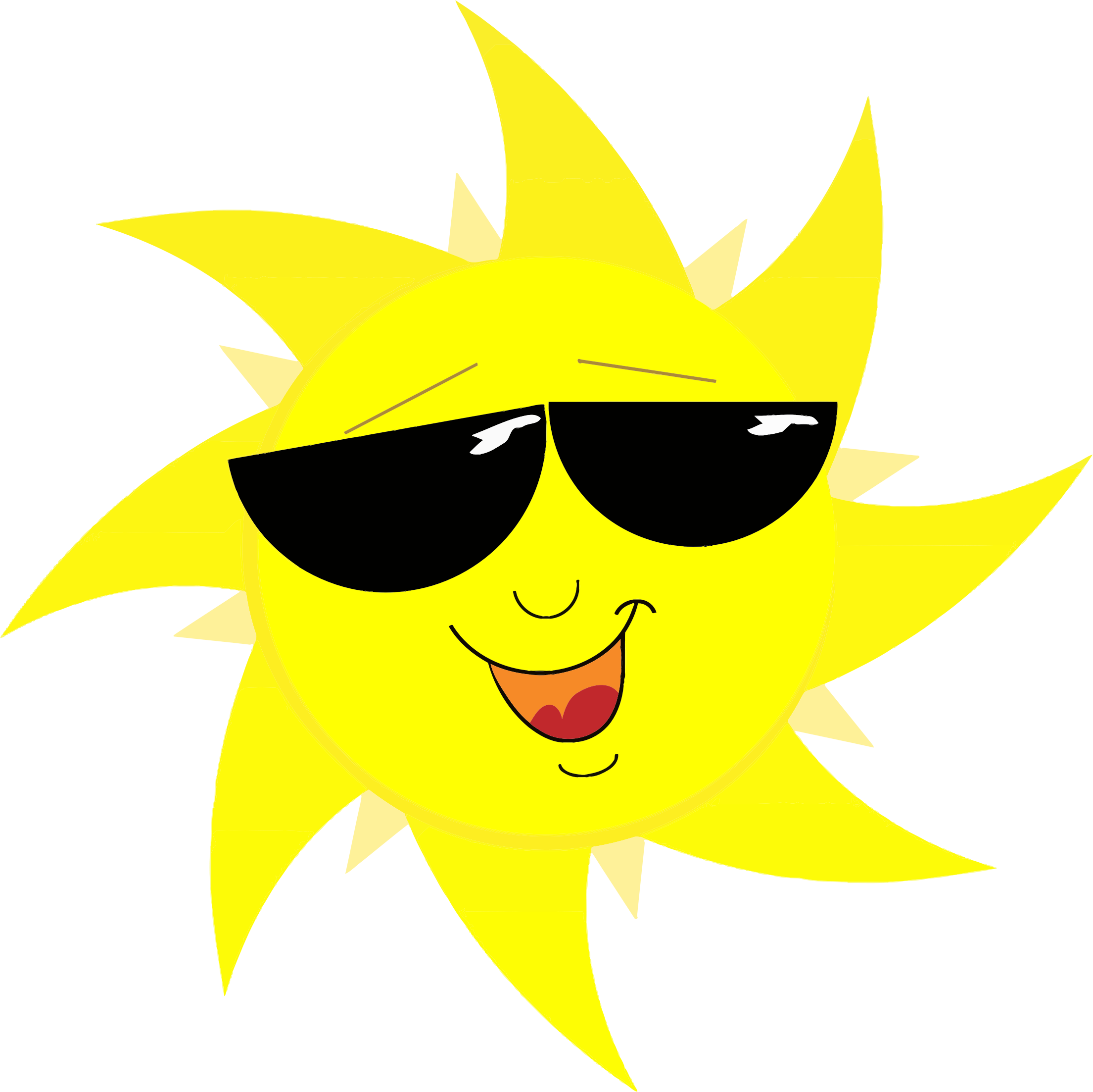 Smiling-Sun-Face-In-Sunglasses